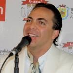 Cristian Castro durante la conferencia de prensa en Olmué 2015