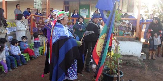 Celebración consideró demostración del juego del palín por parte de los párvulos del jardín, y rogativas y degustación de comidas ofrecidas por la comunidad mapuche de Forestal Alto.