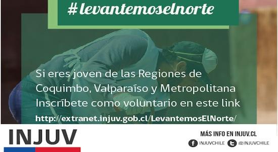 Inscríbete como voluntario: INJUV inicia campaña #Levantemoselnorte