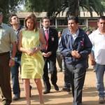 Jefe provincial Gianni Rivera, junto a la alcaldesa Macarena Santelices, además de Bomberos, Salud, Onemi, Carabineros y PDI, recorrieron las instalaciones del anfiteatro.