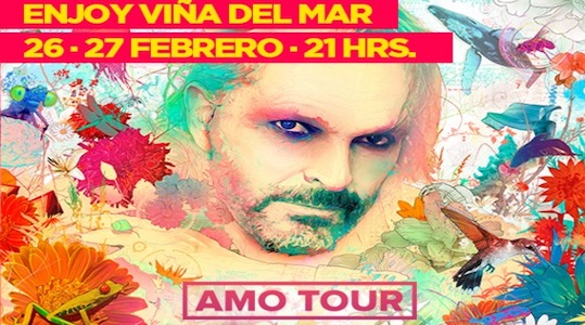 Miguel Bosé se presentará en el Casino de Viña del Mar @enjoy_vina