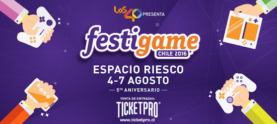 @FESTIGAME 2016 | 2ª Preventa de entradas ya disponible en TicketPro.cl