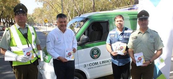 Inician campaña para evitar robos al interior de vehículos en Limache