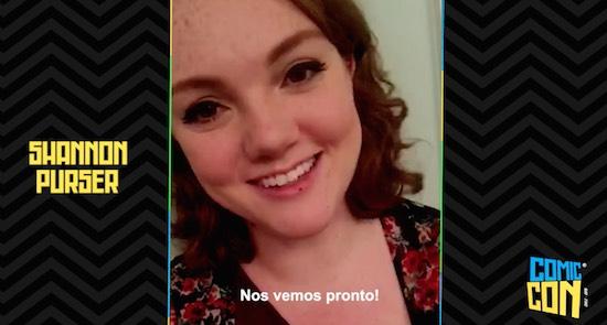 [VIDEO] Actriz Shannon Purser envía saludos  a fanáticos de Comic Con Chile