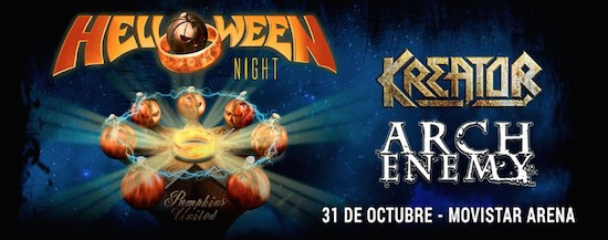 HELLOWEEN NIGHT IN CHILE  Junto a Kreator y Arch Enemy | 31 de Octubre Movistar Arena