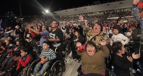 Público agotó las entradas para el show final de la Teletón en el Estadio Nacional