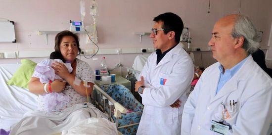 Nació un 1 de enero al igual que su madre: Familia olmueína feliz con el nacimiento de su primogénita en Hospital de Quilpué