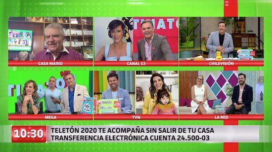 """Canales de TV se unieron en matinatón digital histórica a horas del inicio de """"Teletón de acompaña"""""""